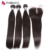 7A Brazilian Virgin Hair Straight with Closure Human Hair Weave 3 Bundles with Closure Brazilian Straight Hair with Closure