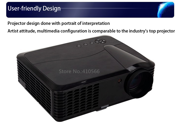 Multimedia HDMI USB Projector 1280x800Pixels Resolution Support Spanish Portuguese LED Lamp 720P Beamer Video Projecteur