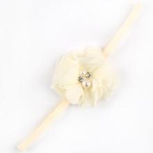 2016 Now Hot Sale Girls Hair Accessories hairband Baby Headband flower princess pearl rhinestone elastic flower hairband(China (Mainland))