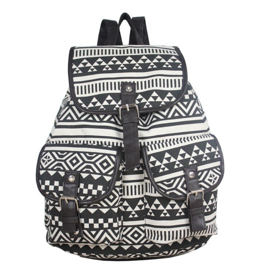 2015 Fashion Women Printing Backpack Canvas Owl Animal Student Shoulder School Bags For Teenagers Girls Ladies Back Bag B8124(China (Mainland))