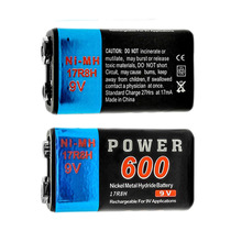 2pcs Power 9V Voltage 600mAh Rechargeable Ni-MH NiMH Battery 17R8H Hot Selling(China (Mainland))