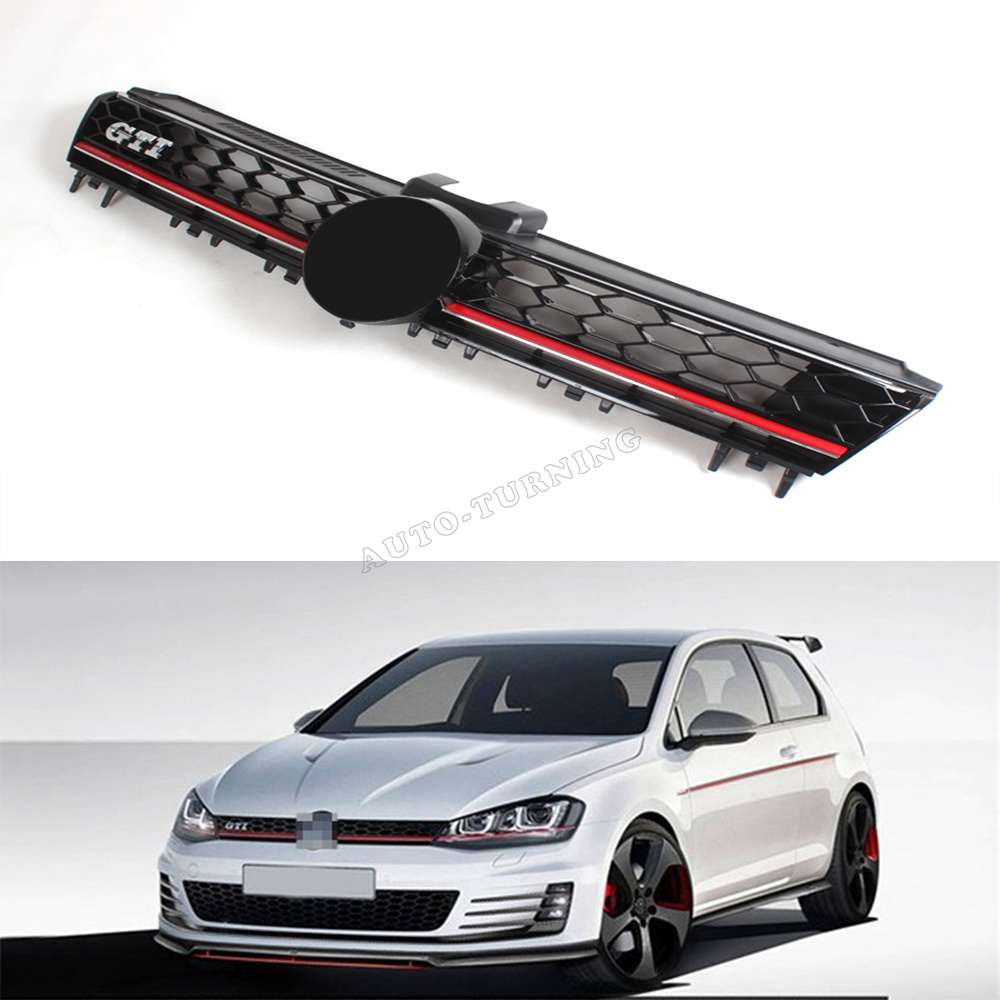 Фотография MK7 GTI style ABS Auto Car Front Bumper Mesh Grill Grille For VW Golf VI MK7 2014UP