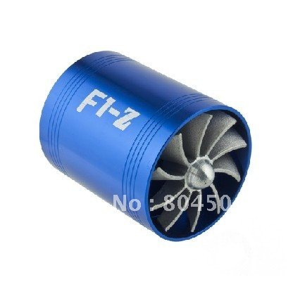 Supercharger F1-Z Air Intake Tornado Turbo Dual Fan Gas Fuel Saver Fan with Double Propeller(China (Mainland))
