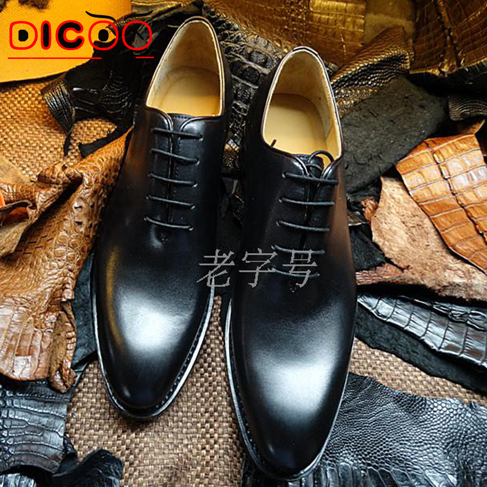 Luxury mens goodyear welted shoes Bespoke goodyear leather oxfords shoes vintage dress shoes mens flats boss party shoes 2015(China (Mainland))