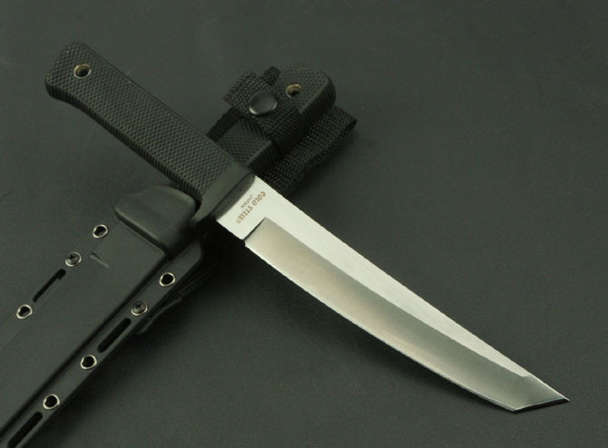 Cold Steel Fixed Hunting Knife 9Cr18Mov Blade San Mai Recon Tanto Knife Camping Survival Knives With