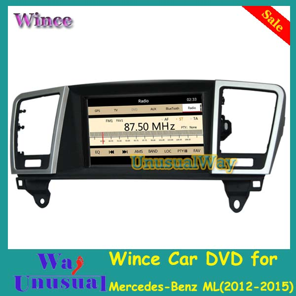 Free Shipping 2015 Top Auto navigator Radio For Mercedes-Benz ML 2012-2015 / GL 2013-2015 With GPS BT Mapional Wince Car DVD(China (Mainland))
