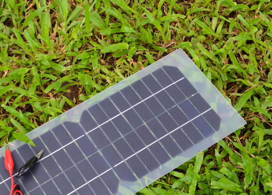 Semi-flexible 10W 18V Transparent Solar Cell Panel with DC Output + Crocodile Clip 440*190mm Mini Solar panel for DIY and Test(China (Mainland))