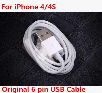 Wholesale Original 6 Pin USB Cable Sync Date Cable & Charging For iPhone 4 4S iPad 1/2/3/4 Phone Cable Fast delivery(China (Mainland))