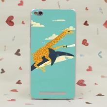 323SD Cute Giraffe Animal Hard Transparent Case Redmi 2 2A 3s Pro Note 3 Meizu M2 Mini M3 - No1 Not Second Store store