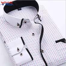YXS-386 2015 New Men's Shirts Long-Sleeve Plaid Shirts Brand Dress Shirt Plus Size Stitching Casual Dress Shirt 4XL Camasia Tops(China (Mainland))