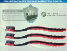 100% good quality 5PCS/lot  Double Ultra Soft Toothbrush Teeth Brush Bamboo Charcoal Nano tooth Care Set/5PCS/SET(China (Mainland))