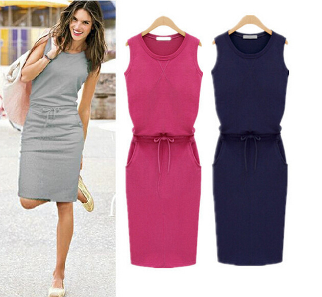 women's minnie dress clothing series cultivate one's morality Pure color condole belt vest one pace - GIRLS STYLE store