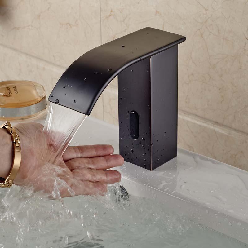 Купить Бесплатная Доставка Водопад Носик Автоматическая Бесконтактный Датчик Кран Батареи и Вилку (Только Холодная Вода)