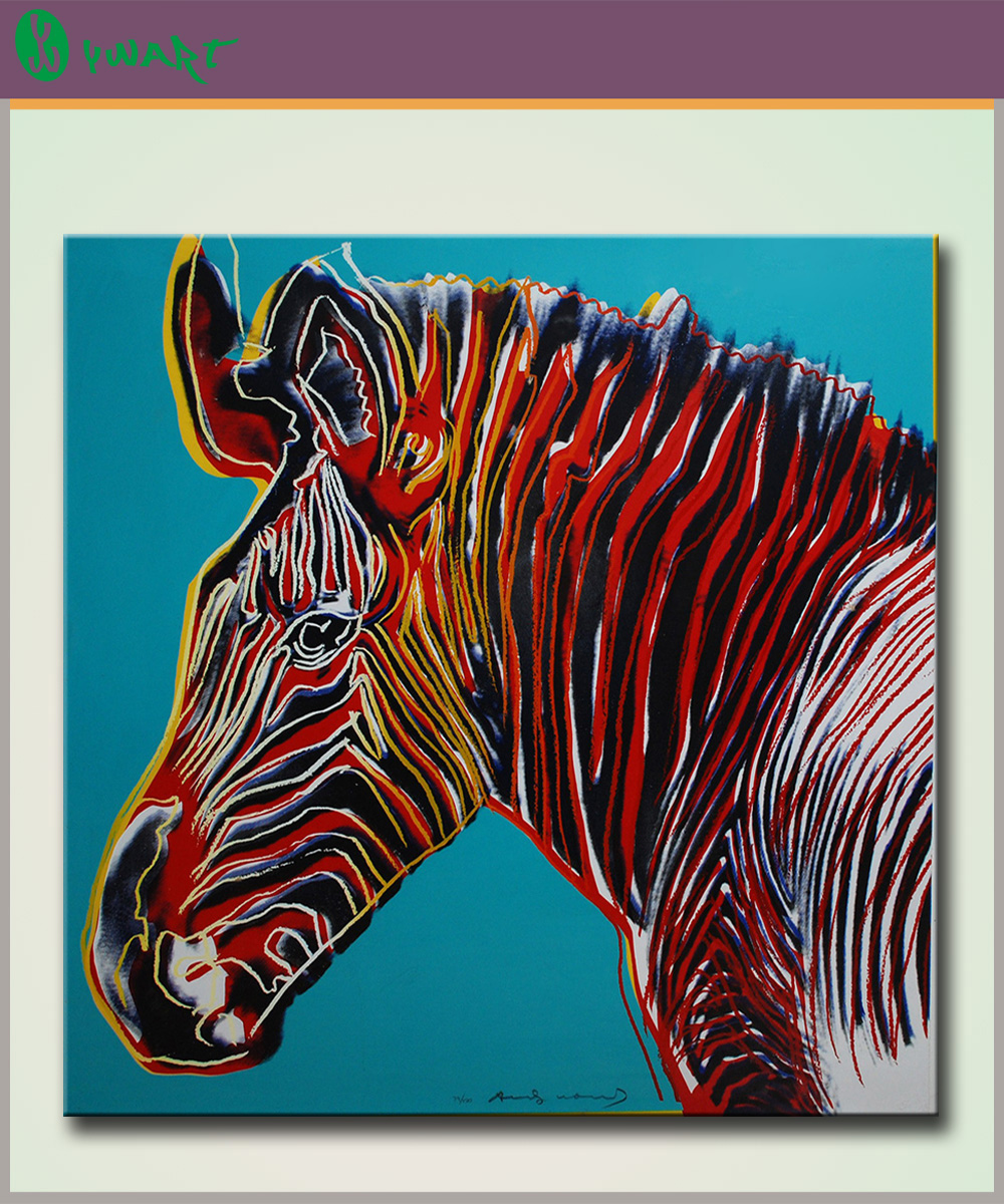 Andy Warhol Zebra Oil Painting