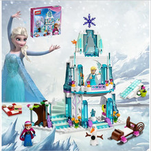 316pcs Color Dream Princess Elsa Ice Castle Princess Anna Set Model Building Blocks Gifts Toys Compatible lepin Friends(China (Mainland))
