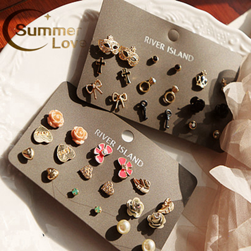 2015 earrings fashion jewelry boucle d'oreille Gorgeous stud set aros E214 - My Mission--Fashion your Beauty(Min Order 6$ store)