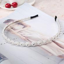Buy M MISM High Hair Decoration Hairband Girls Pearl String Flower Hair Hoop Women Hair Accessories Headwear Headband for $1.01 in AliExpress store