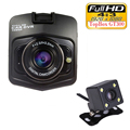 Dual Lens Camera Car DVR Topbox GT300 Dash Cam Full HD 1080P Video Registrator Recorder Backup