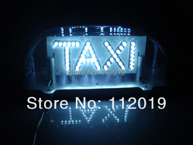 Free shipping New 96 LED Light lamp TAXI CAB ROOF TOP SIGN Waterproof with Magnetic Base WHITE(China (Mainland))
