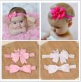 2pcs set hair accessories elastic bands ribbon bows kids infant baby headband girls bow headbands satin