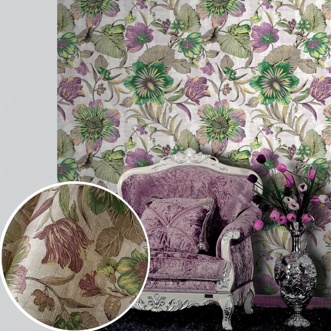 wall paper. Pune environmental non-woven wallpaper American rural countryside flower painting style backdrop wallpaper bedroom e