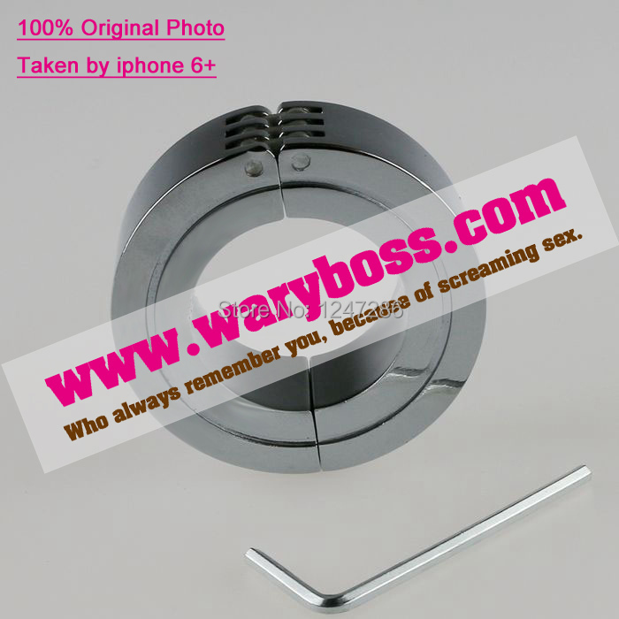 Free Shipping,Locking Hinged Cock Ring,CBT Ball,Chrome Metal Steel Scrotum Stretcher,Care Penis,Sex Toys,Sex Products,waryboss(China (Mainland))