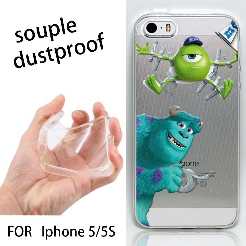 For iphone 5s case monsters university sulley mike design cell phone defender cases cover for apple iphone5s free shipping(China (Mainland))