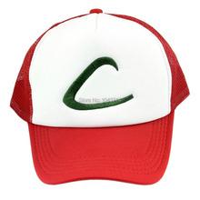Anime Cospaly Hat Pokemon ASH KETCHUM Visor Cap Costume Play Baseball Hat(China (Mainland))