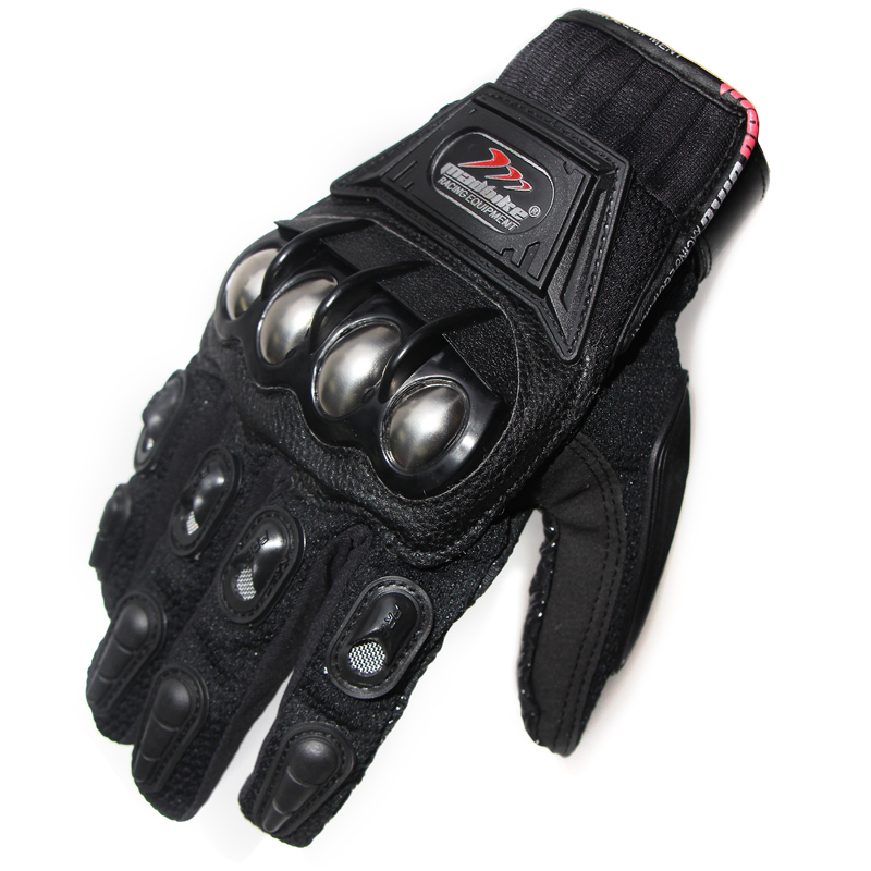 Hot Sale Stainless Steel Racing Protective Gears Motorcycle Gloves Black Blue Red Quality Motocross Motorbike Breathable Glove(China (Mainland))