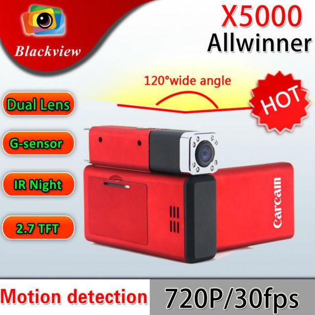 Car BLACK BOX DVR recorder Q8 New Full HD Dual Cameras 1440 x 1080P X5000 carcam Wholesale and Retail Free shipping