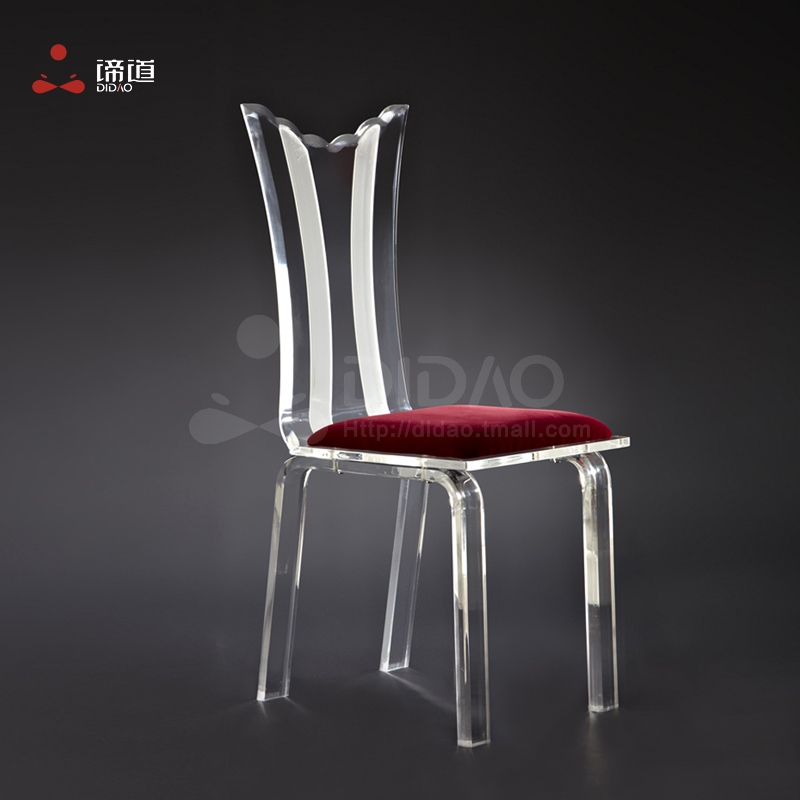 European post modern acrylic furniture led back dining for Post modern chair
