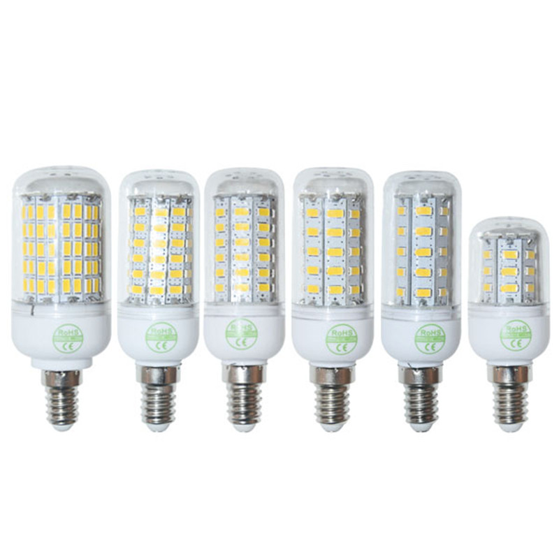 High Power E14 SMD 5730 LED Lamp 9W 12W 15W 20W 25W 35W LED Corn Bulb 220V/110V Warm white/white LED Chandelier Candle Light(China (Mainland))