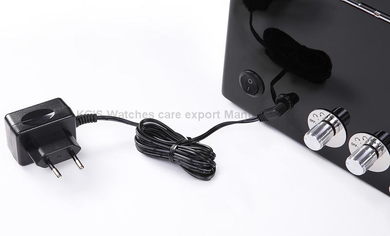 Высокое качество ручной автоматические часы намотки часы 6 часы черный с прозрачным окном коробка GC03-D102BB