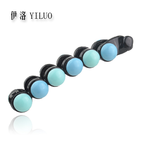 Good Quality Women Accessories Elegant Beads Hair Clip Summer Style Banana Hair Accessories For Women 9cm Long FREE SHIPPING(China (Mainland))