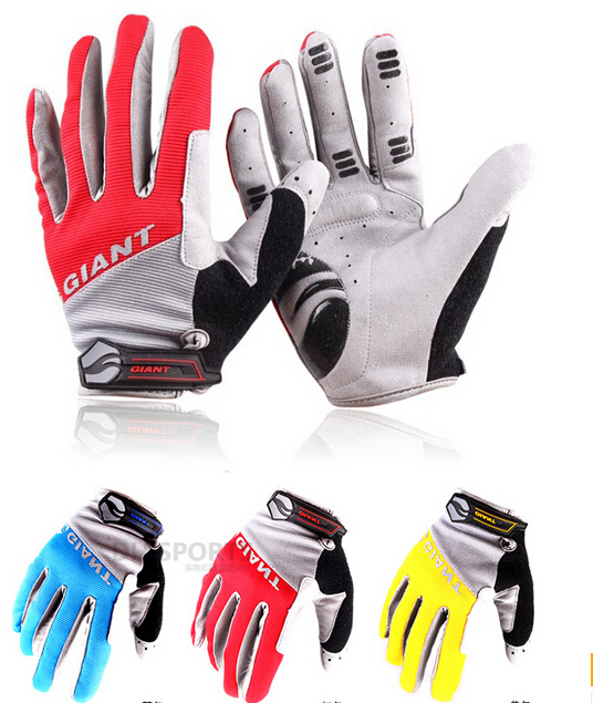 Гаджет  2015 new brand NEW racing Full finger Cycling Bicycle gloves road Mountain bike silicone non-slip breathable gloves 3 colors None Спорт и развлечения