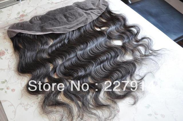 "Virgin Brazilian Lace Frontal Closure 13x4"" Bleached Knots Virgin Frontal Piece 10-20""Body Wave Full Lace Frontal Brazilian Wavy"