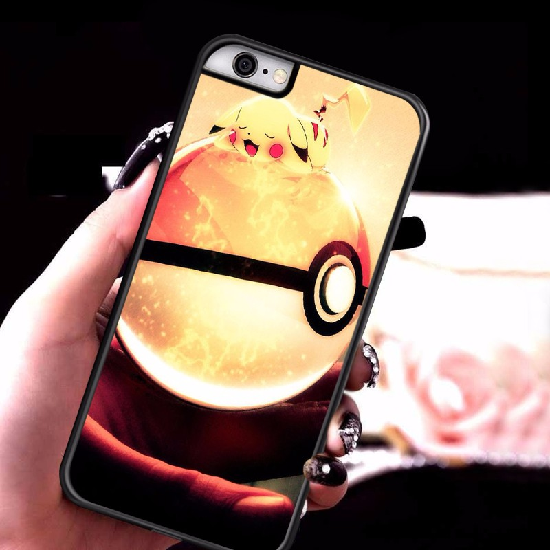 Pokemons Go Pokeball Case Cover for lg g3 g4 stylus g5 k7 k10 l70 l90 nexus 5x 6 7 Pikachue cartoon case mobile accessories