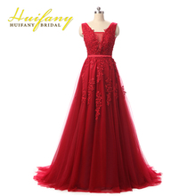 Robe De Soiree Red/Coral/Royal Blue/Pink Lace Appliqued Beaded Sexy Long Evening Dresses Elegant Formal Prom Party Gowns(China (Mainland))