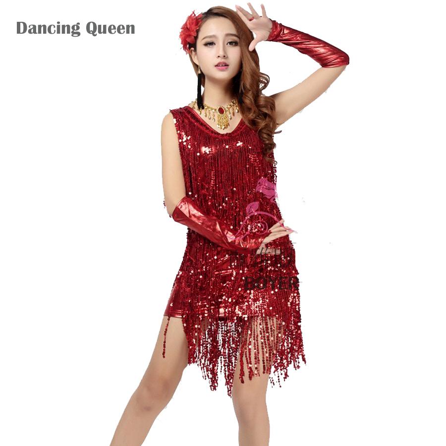 2015 Latin Dance Skirt Lady Dress For Dancing Sequins Women Stage Costumes Tassel Tango/Cha cha/Samba/Jazz/Ballroom DancewearОдежда и ак�е��уары<br><br><br>Aliexpress