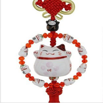 1pc Car pendant ornaments Automobile accessories Ceramic cat(China (Mainland))
