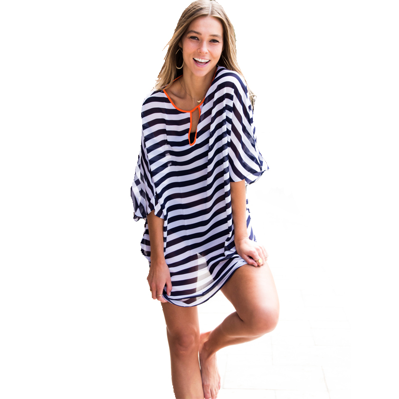 Fashion Book Cover Ups : Aliexpress buy new fashion striped beach womens