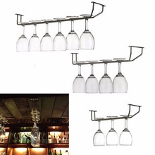 Champagne Stemware Holder Chrome Plated Wine Rack Glass Cup Kitchen Wall Bar Hanger Enclosed Stainless Steel Screw 27/35/55cm(China (Mainland))