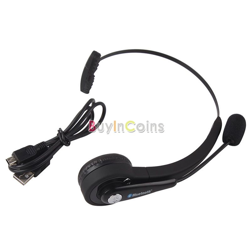 Wireless Bluetooth Stereo Game Headset Headphones MIC for PlayStation 3 PS3 Black US AS #52603(China (Mainland))