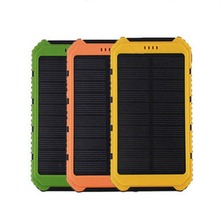 Universal 18000mAh Solar Panel Power Bank 2A 1A External Battery Pack Phone Charger Green Orange Yellow Wholesale(China (Mainland))