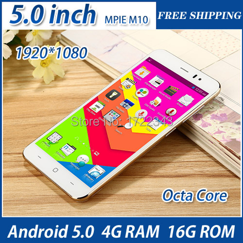 5.0 inch Original Smartphone MPIE M10 MTK6752 Octa Core 1080P 4GB RAM 16GB ROM Dual Sim 13.0MP Camera android cell Mobile Phone(China (Mainland))