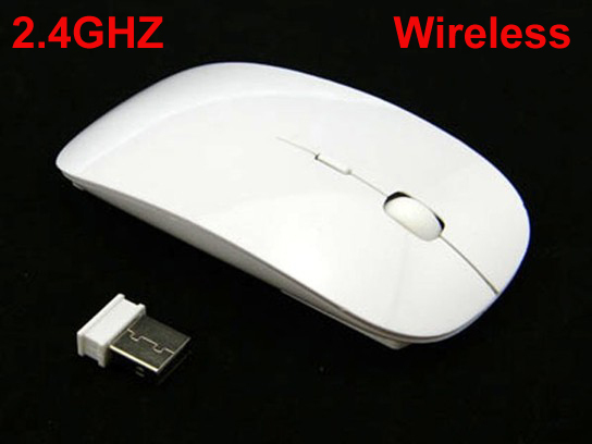 2015 NEW 3D 2.4 GHz Wireless Mouse USB Optical For APPLE Macbook Mac laptop, White Color(China (Mainland))