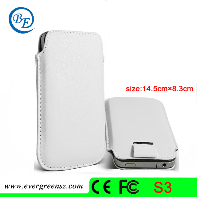 Skillful manufacture Moderate Price Mobile phone Leather case for Samsung Galaxy SIII I9300 cover pouch #MC001(China (Mainland))