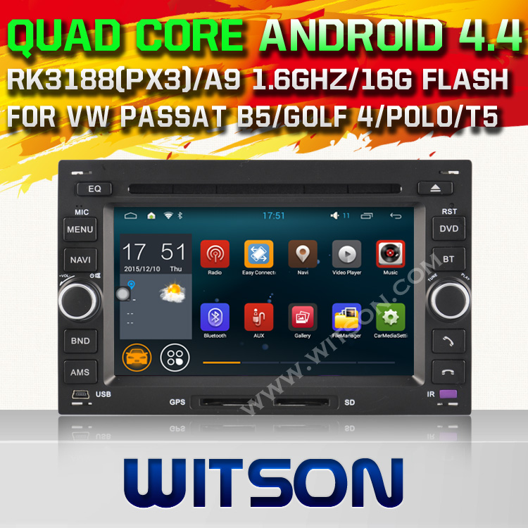 WITSON Android 4.4.4 CAR DVD GPS for VW PASSAT B5 GOLF 4 POLO BORA CAPACTIVE HD 1024X600 Screen Built in 8GB Flash Built-In WIFI<br><br>Aliexpress