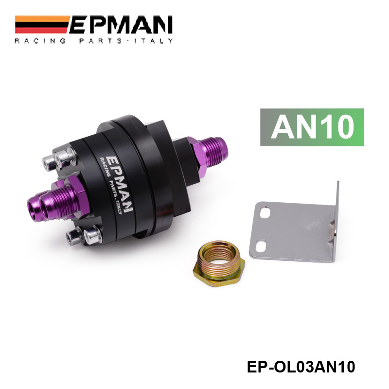 EPMAN BLACK AN10 ALUMINUM OIL FILTER RELOCATION MALE FITTING ADAPTER KIT 3/4X16,20X1.5 EP-OL03AN10BK(China (Mainland))