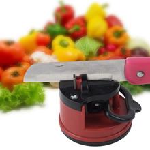 1pcs Knife Sharpener Scissors Grinder Secure Suction Chef Pad Kitchen Sharpening Tool hot! YKS(China (Mainland))